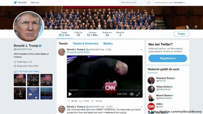 Screenshot Trump Twitter