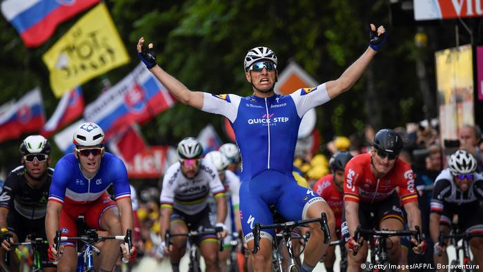 Radsport Tour de France Tag 2 Ziel Marcel Kittel (Getty Images/AFP/L. Bonaventura)