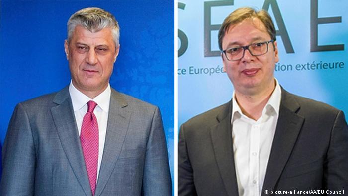 Президент Косова Хашим Тачі та президент Сербії Александар Вучич