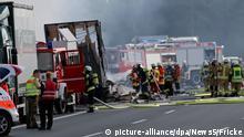 Deutschland Busunfall auf der A9