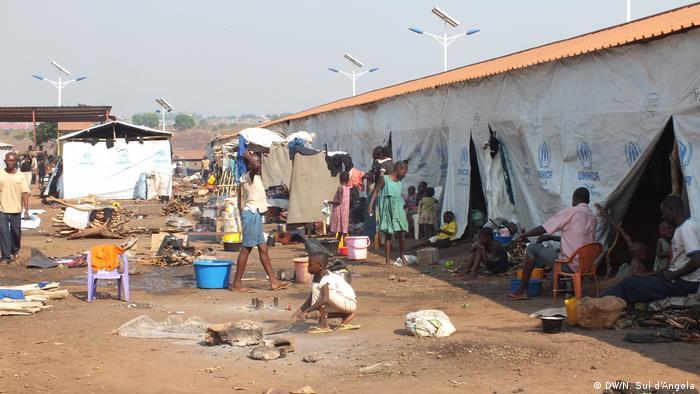 Angola Flüchtlingslager nahe Kakanda
