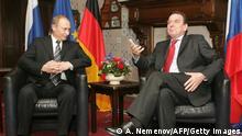 Встреча Путина и Шрёдера в Гамбурге в декабре 2004 года