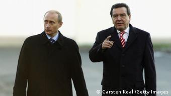 Путин и Шрёдер в Гамбурге, декабрь 2004 года