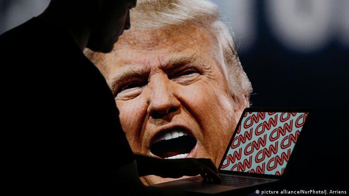 عکس نمادین: ترامپ و سی ان ان