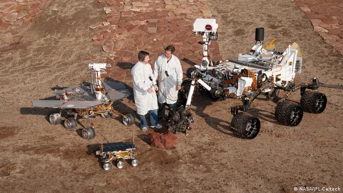 Landung Marssonde Pathfinder mit dem Rover Sojourner (NASA/JPL-Caltech)