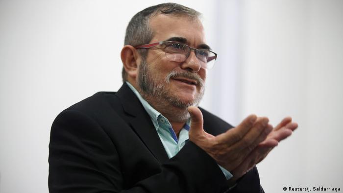 Kolumbien Rodrigo Londoño, früherer FARC-Chef (Reuters/J. Saldarriaga)