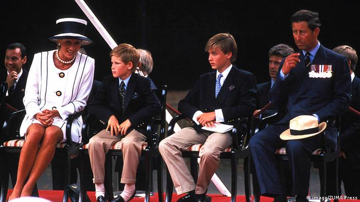 100 Jahre Haus Windsor   Prinz Charles, Lady Di, Prinz William und Prinz Harry (imago/ZUMA Press)