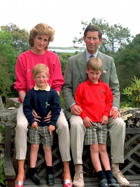 Diana and Charles with their sons in 1989