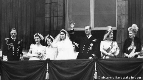 Wedding of Princess Elizabeth and Philip Mountbatten in 1947 (Photo: picture-alliance/akg-images)