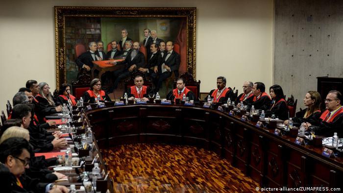 Venezuela | Maikel Moreno während einer Pressekonferenz (picture-alliance/ZUMAPRESS.com)