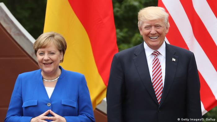 Italien G7 Angela Merkel und Donald Trump (Getty Images/S. Gallup)