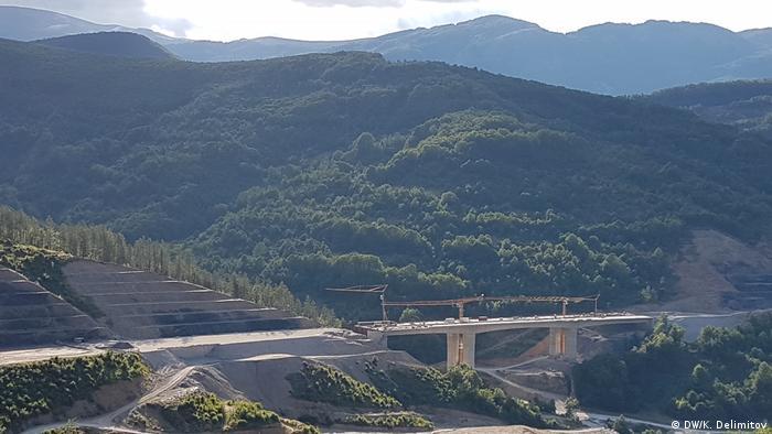 Mazedonien Autobahn Kicevo-Ohrid