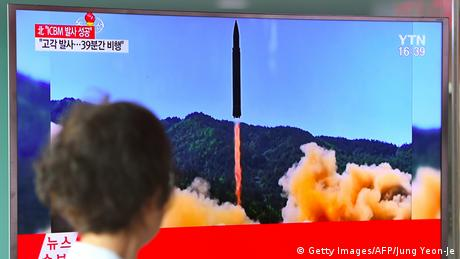 Nordkorea Raketentest (Getty Images/AFP/Jung Yeon-Je)
