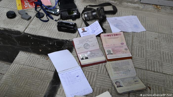 Документи та особисті речі загиблих Роккеллі та Міронова