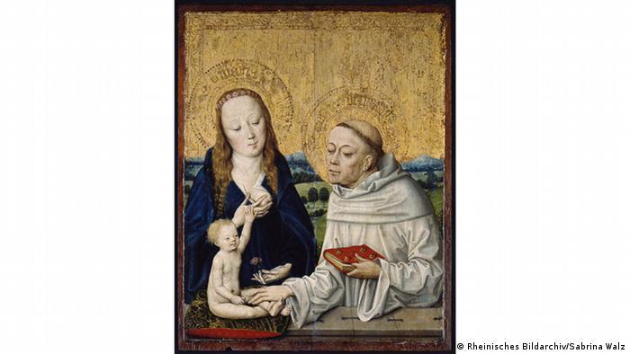 Мария с младенцем и святой Бернард Клервоский, 1460 год