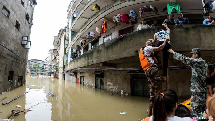 China Überflutung Überschwemmung Fluss Wetter Umwelt (Reuters)