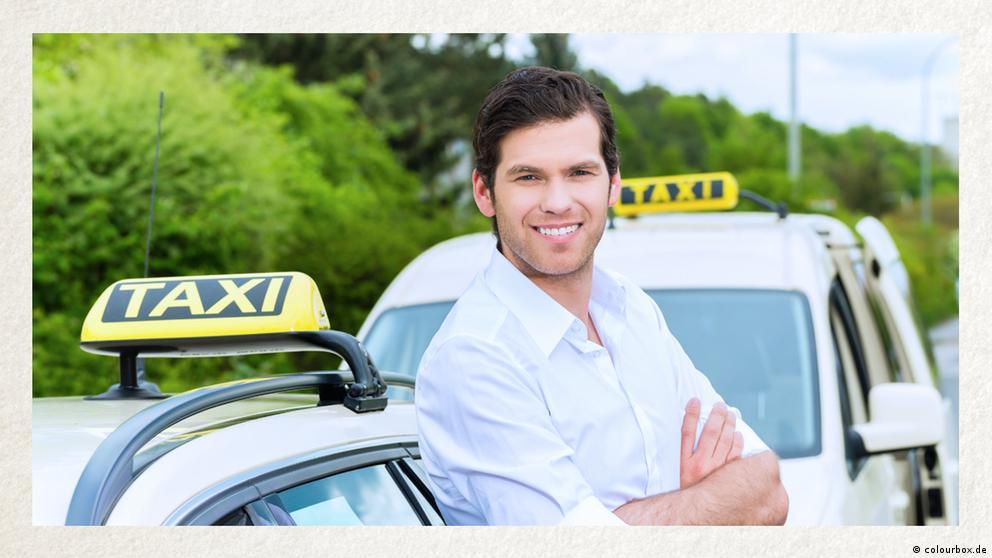 Deutschkurse | Wortschatz | WBS_Foto_Taxifahrer