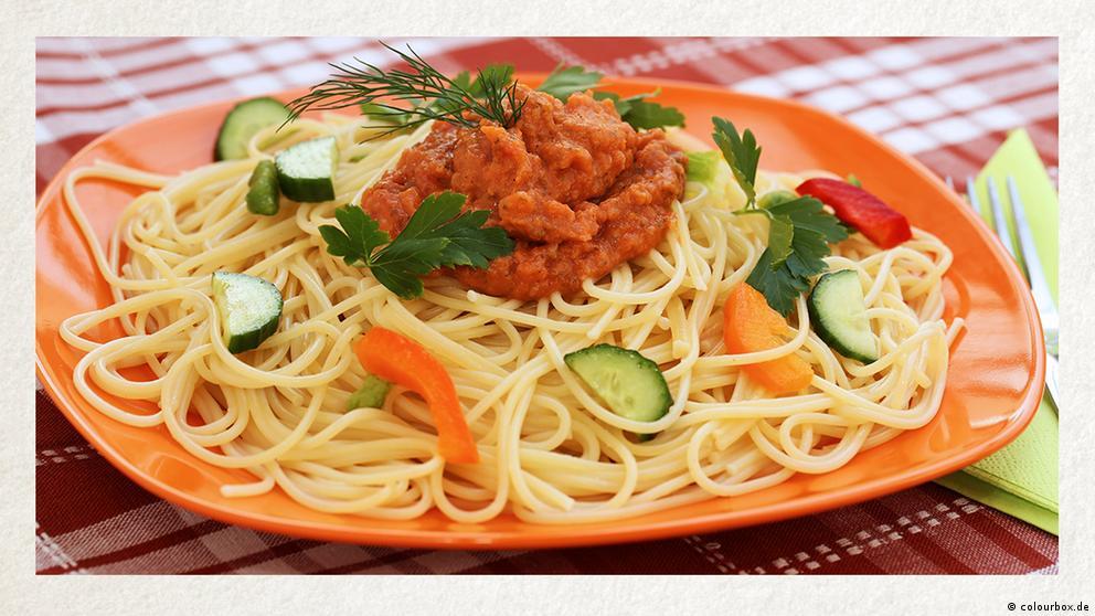 Deutschkurse | Wortschatz | WBS_Foto_Spaghetti