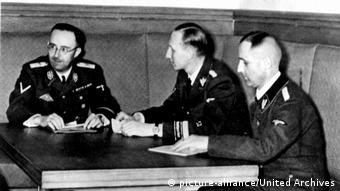 Гиммлер, Гейдрих и Мюллер (слева направо). 1939 г.