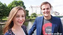 Hugh Evans und Carolin Albrecht Global Citizen Festival