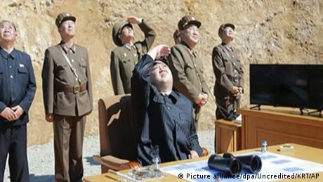 Nordkorea - Angeblicher Test einer Interkontinentalrakete (Picture alliance/dpa/Uncredited/KRT/AP)