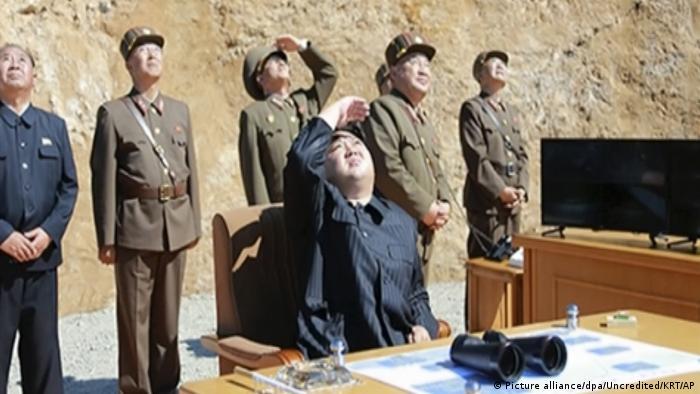 Nordkorea - Angeblicher Test einer Interkontinentalrakete (Picture alliance/dpa/Uncredited/KRT/AP)