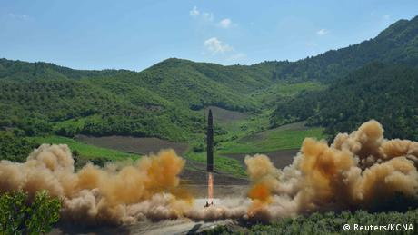 North Korean test of a Hwasong-14 (Reuters/KCNA)