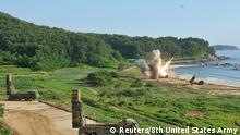 Südkorea gemeinsame Manöver mit USA Rakete Hyunmoo Missile II