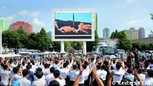 Nordkorea Raketentest Hwasong-14 public viewing