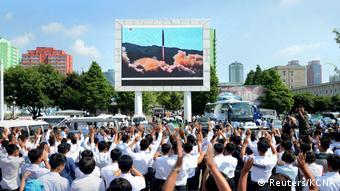 Nordkorea Raketentest Hwasong-14 public viewing