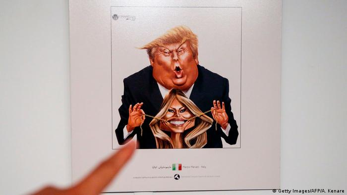 Iran Ausstellung Trump Karikaturen (Getty Images/AFP/A. Kenare)