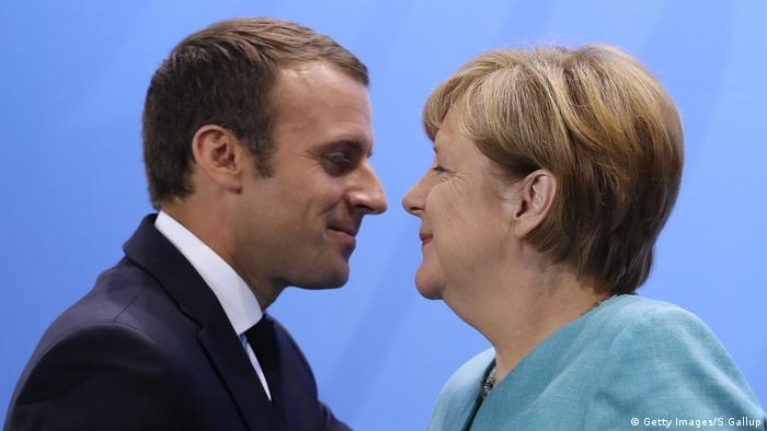 G20 Angela Merkel und Emmanuel Macron Kuss (Getty Images/S.Gallup)