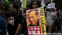 Hongkong Demo zur Freilassung des Dissidenten Liu Xiaobo