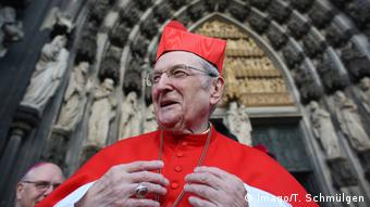 Cardinal Meisner in front of Cologne's Dom