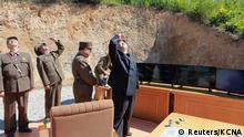 Nordkorea Kim Jong Un Freude über den erfolgreichen Raketenstart