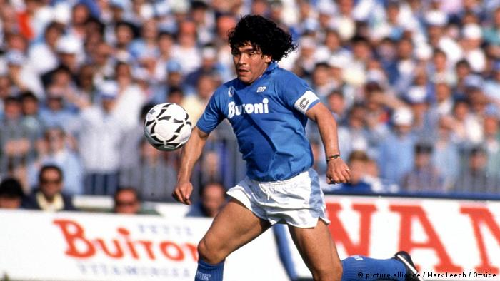 Diego Maradona in Napoli colors