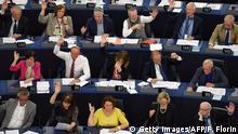 05.07.2017 *** Members of the European Parliament take part in a voting session at the European Parliament in Strasbourg, eastern France, on July 5, 2017. The European Parliament overwhelmingly approved a first-ever EU-Cuba cooperation deal, overlooking lingering concerns about human rights violations in the communist-ruled country. / AFP PHOTO / FREDERICK FLORIN (Photo credit should read FREDERICK FLORIN/AFP/Getty Images)