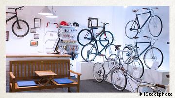 Deutschkurse | Wortschatz | WBS_Foto_Fahrradgeschaeft