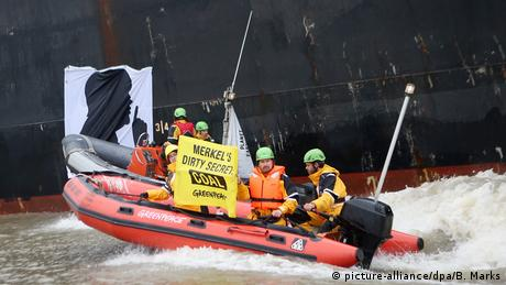 Greenpeace action against coal in Hamburg (picture-alliance/dpa/B. Marks)