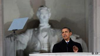 Obama Freiluft-Konzert am Lincoln Memorial in Washington