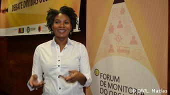 Mosambik Maputo - Denise Namburete, mitglied von Fórum de Monitoria do Orçamento
