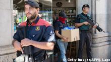 Spanien Barcelona - Polizei konfiszieren Gegenstände nach mehreren Festnahmen mutmaßlicher Mafia-Mitglieder