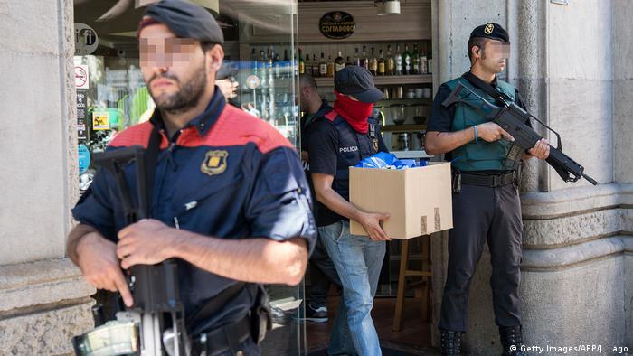 Рейд поліції у Барселоні (фото з архіву)