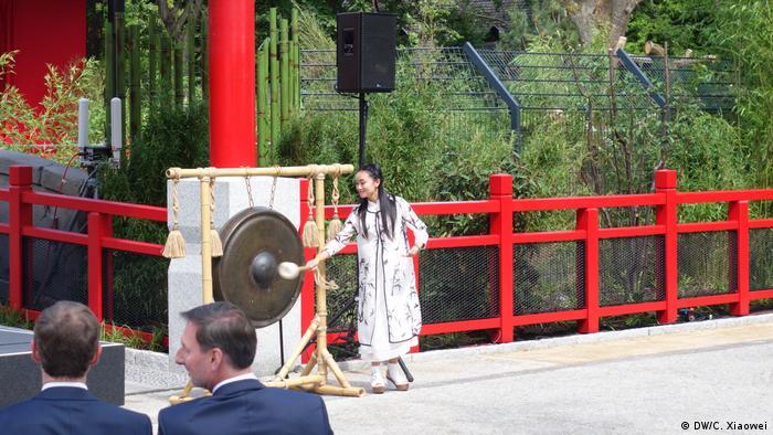 Berlin Willkommenszeremonie Pandabären (DW/C. Xiaowei)