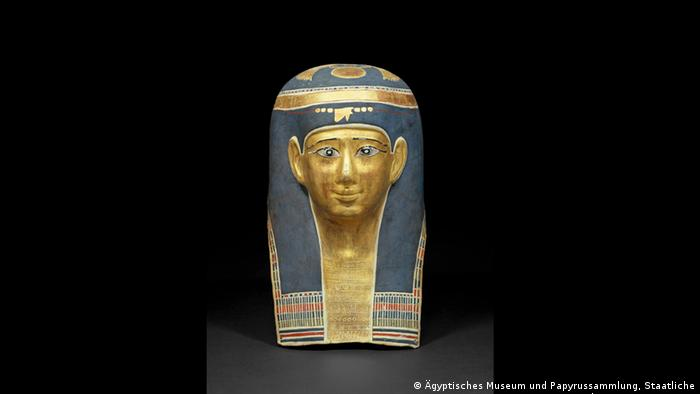 Mummy mask of Ta-Sherit-en-Hor. (Foto: Egyptian Museum and Papyrus Collection, Staatliche Museen zu Berlin, Margarete Büsing)