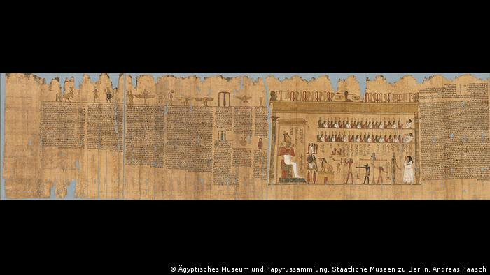 The book of the dead of Ta-remetch-en-Bastet, Papyrus inscripted and painted, Early Ptolemy Period, 332–246 BC (Foto: Egyptian Museum and Papyrus Collection, Staatliche Museen zu Berlin, Andreas Paasch)
