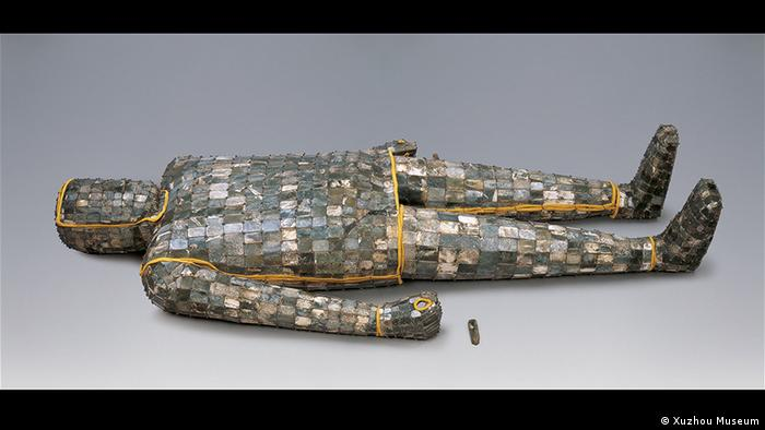 A lying corpse in a jade robe, Western Han dynasty, 206 BC until 8 AD (Photo: Xuzhou Museum)