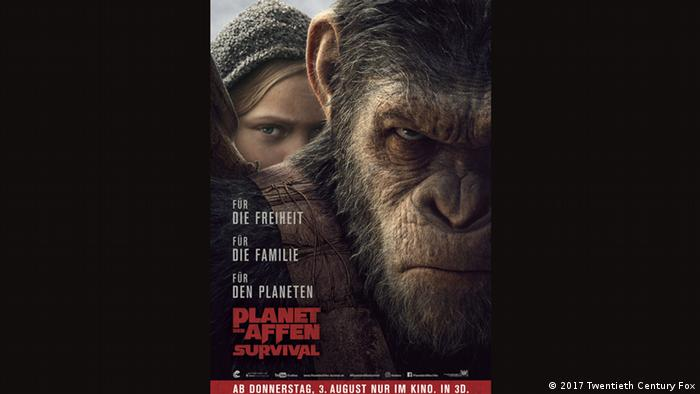 Poster in German for War for the Planet of the Apes (2017 Twentieth Century Fox)