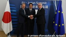 EU-Japan- Gipfel in Brüssel (picture-alliance/abaca/D. Aydemir )
