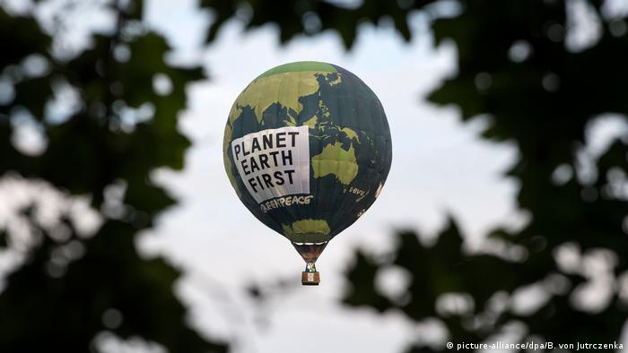 Protest Greenpeace la summitul G20